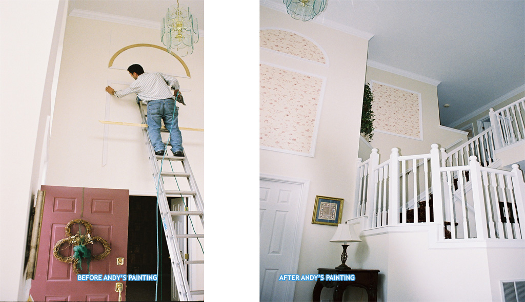 Painting in BEFORE & AFTERS